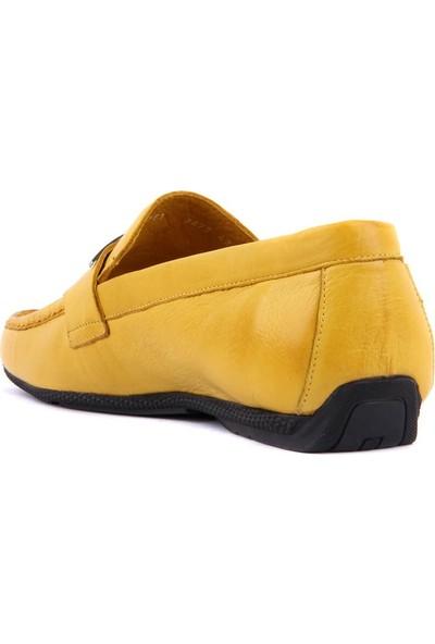 Sail Laker's Sarı Erkek Günlük Deri Ayakkabı