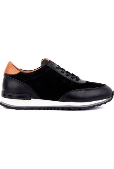 Sail Laker's Siyah Süet Deri Bağcıklı Erkek Günlük Ayakkabı