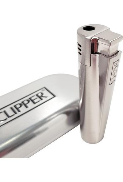 Clipper 1300 C Turbo Komple Metal Mat Gri Çakmak Py53Mgr