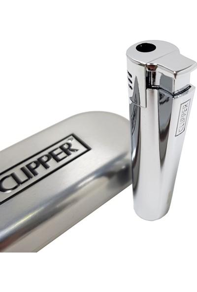 Clipper Turbo Komple Metal Parlak Gri Çakmak Py53Pgr