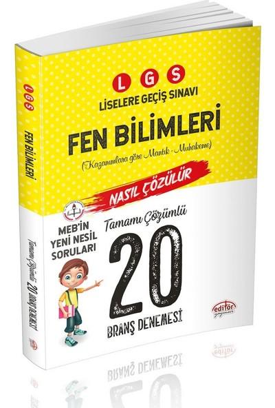 Editör Yayınları 8. Sınıf LGS Fen Bilimleri Tamamı Çözümlü 20 Deneme Sınavı