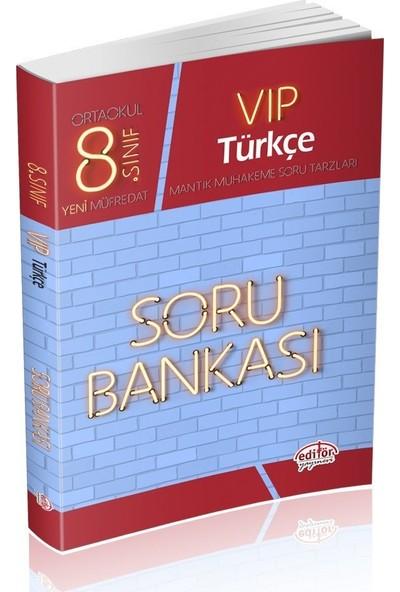 Editör Yayınları 8. Sınıf LGS VIP Türkçe Soru Bankası