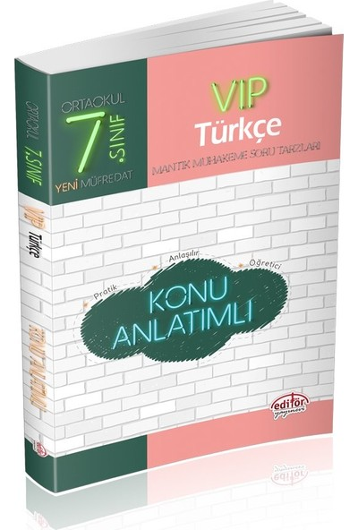 Editör Yayınları 7. Sınıf VIP Türkçe Konu Anlatımlı
