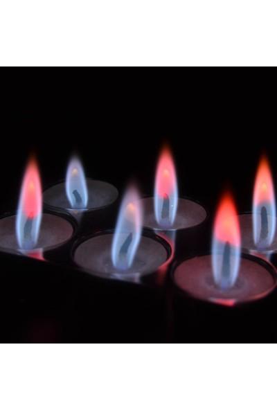 Cansüs 6lı Kutup Işıkları Renginde Yanan Tealight Mum 3 cm