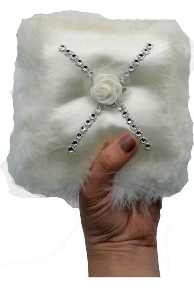 Cansüs Takı Yastığı İğnedanlık Beyaz 12 cm