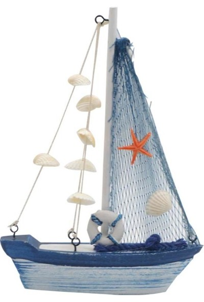 Cansüs Büyük Dekoratif Ahşap Gemi 20 cm