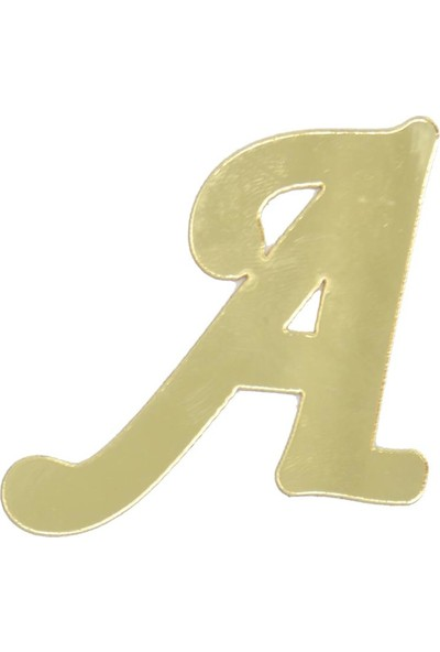 Cansüs 4 cm Pleksi Ayna A Harfi Gold