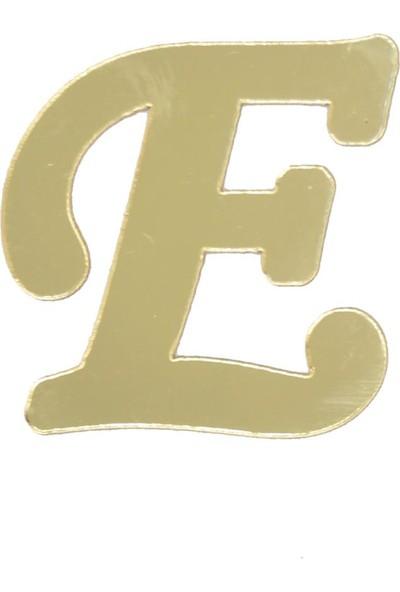 Cansüs 4 cm Pleksi Ayna E Harfi Gold