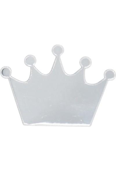 Cansüs 4 cm Pleksi Ayna Kral Tacı Gümüş