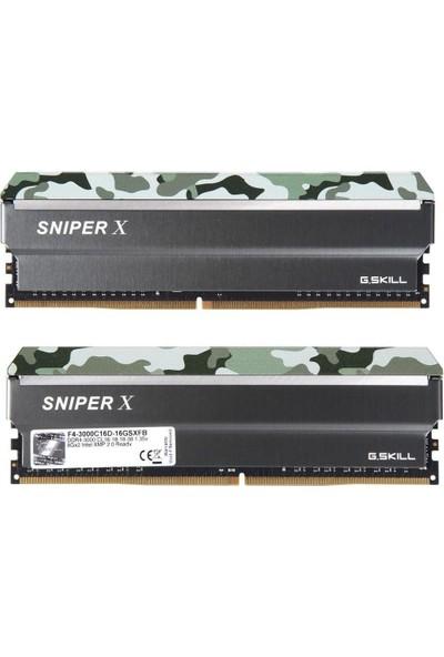 G.Skill SniperX 16GB (2X8GB) 3000Mhz DDR4 Ram F4-3000C16D-16GSXFB