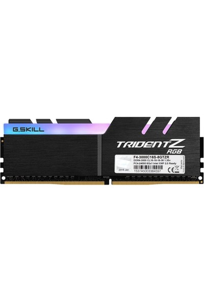 G.Skill Trident Z 8GB 3000Mhz DDR4 Ram F4-3000C16S-8GTZR