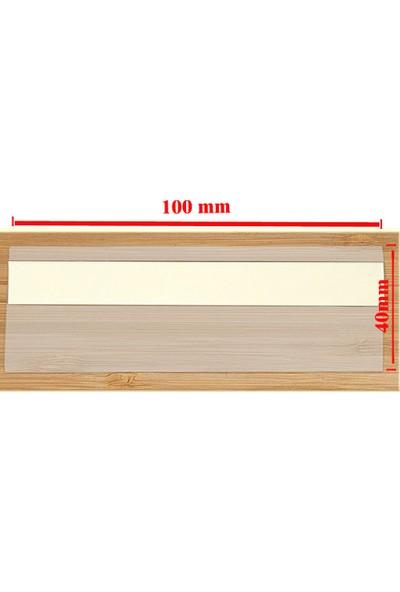 Simge Yapı Dekorasyon Mağaza ve Market Raf Önü Şeffaf Etiket 20'li Paket