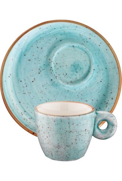 Bonna Porselen Aqua Banquet Espresso Fincanı Ve Tabağı 6'Lı