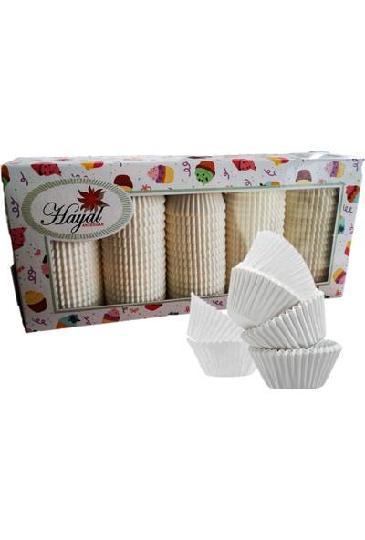 Mini Çikolata Kağıdı Kek Kapsülü Beyaz 1250 Adet