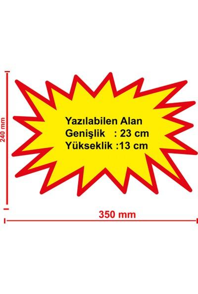 Simge Yapı Dekorasyon Marketlerde Kullanılan Etiketi Şok Etiketi Sarı Renk Büyük Boy 50'li Paket