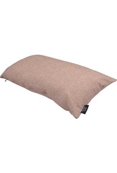 Mcalister Textiles Herringbone Yastık Kılıfı Dekoratif Kırlent Lila 60X40Cm