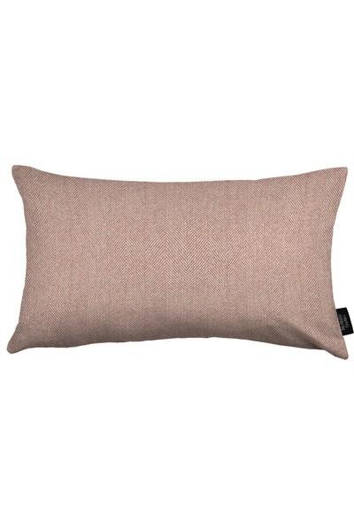 Mcalister Textiles Herringbone Yastık Kılıfı Dekoratif Kırlent Lila 50X30Cm