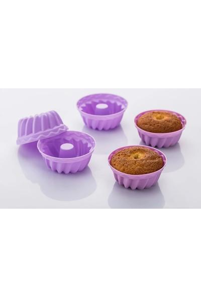 Kek Kalıbı Mini Silikon Muffin Ve Cup Kek 6'Lı