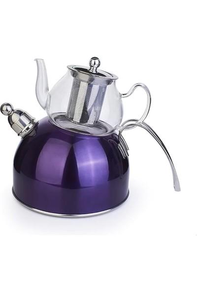 Acar Düdüklü Çaydanlık Mor