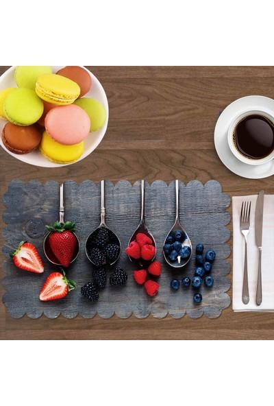 Else Meyve Kaşıklar Mutfak Dikdörtgen 4 Lü Amerikan Servis Takımı