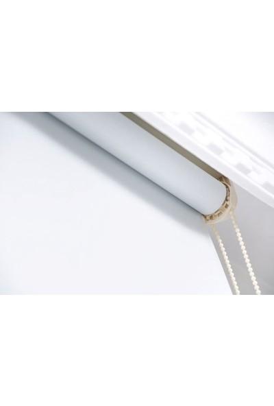 Güneş Perde Brillant Etek Dilimli Beyaz Karartma Stor 60X200 cm