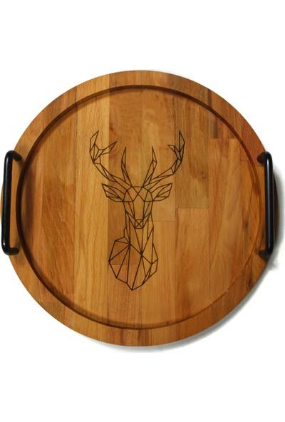 Deer Ahşap Tepsi