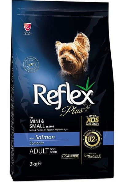Reflex Plus Mini Ve Küçük Irk Somonlu Yetişkin Köpek Maması 3 kg