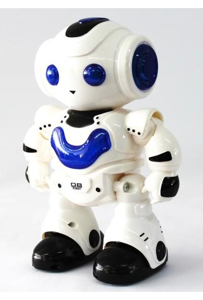 Bircan Oyuncak Uzaktan Kumandalı Robot Işıklı Müzikli 4 Fonksiyon Mavi