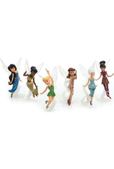 Disney Lisanslı Tinker Bell Tink Periler Oyuncak Seti 6 Adet Peri Figür