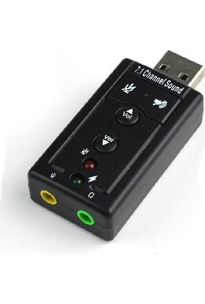 Blueway 7.1 Ses Kartı Sound Efektli USB 2.0 Çevirici Dönüştürücü
