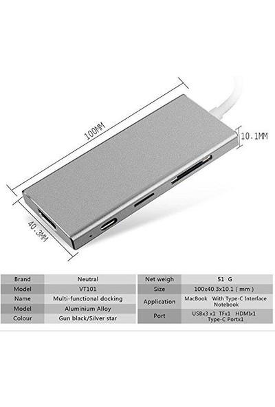 Blueway Type-C To Multiport 4 K HDMI USB Port 3.0 Çevirici Çoklayıcı BW3179