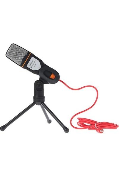 CoverZone SF-666 Portatif Masa Sehpalı Multimedya Kayıt Mikrofon Siyah