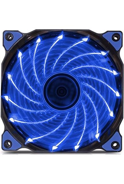 Platoon PNH-170 12V 12Cm Mavi Işıklı Kasa İçi Fan
