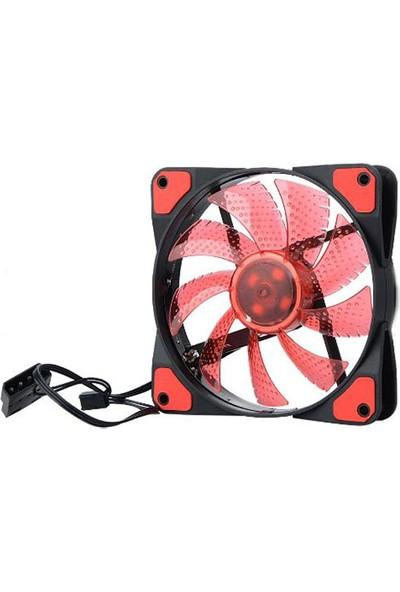 Platoon PNH-170 12V 12Cm Kırmızı Işıklı Kasa İçi Fan