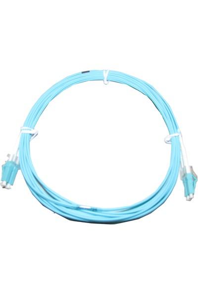 Excel Duplex P/Cable 50/125-Blue Aqua OM3 5Mt Fiber Obtik Kablo 5M LC-LC