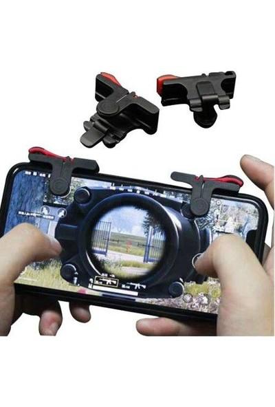 Soffany Tüm Telefonlar İçin Oyun Adaptörü Pubg Ve Fortnite Siyah Ateş Tetik Tuşları