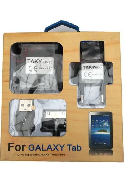 Taky Samsung Galaxy Tab Şarj Adaptör Ve Kablosu 5V2A
