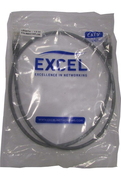 Excel Bb001Mplge Category 5E Patch Lead U/Utp Unshielded LS0H Bla