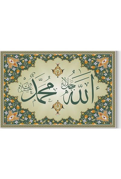 Desenlio Hz Muhammed S.A.V Ve Allah C.C Kanvas Tablo