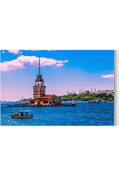 Desenlio İstanbul Kız Kulesi Kanvas Tablo