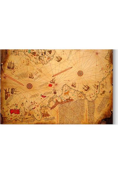 Desenlio Piri Reis Haritası Kanvas Tablo