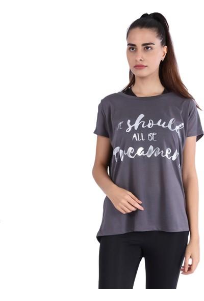 Sportive 7710444-00A Spo-Kesboldream Kadin T-Shirt Siyah
