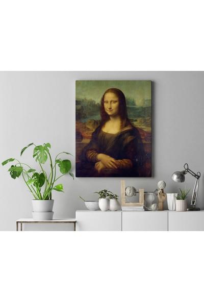 Görsel Tasarım Mona Lisa %100 Pamuk Doğa Dostu Kanvas Tablo