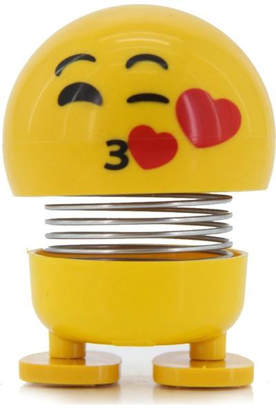 Familya Shop Zııp Zıpp Kafalar, Sevimli Kafa Sallayan Emojiler, Öpücük