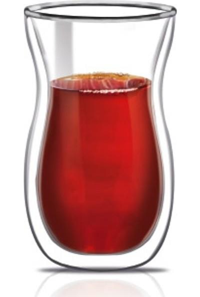 Evstyle Çift Cidarlı Çay Bardağı 2'Li