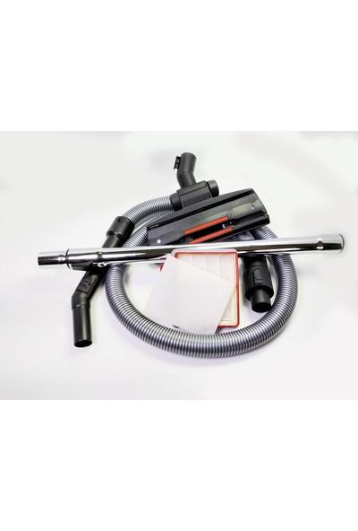 Fakir Veyron Turbo Elektrikli Süpürge Hortumu Emici Başlık Teleskopik Boru Toz Haznesi Hepa Filtre