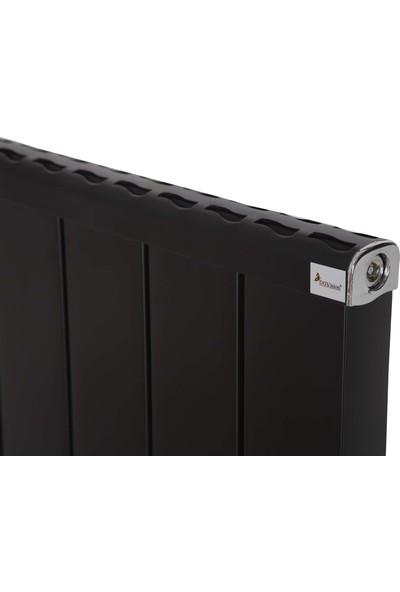 Dgvision Feronia Alüminyum Siyah Radyatör 90*100 Cm Petek