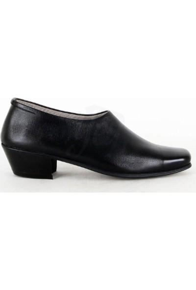 Seven Kundura El Yapımı Kesik Uçlu Çarşamba Ayakkabısı Siyah
