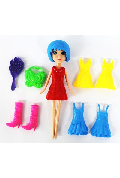 Toys Oyuncak Kıyafetleri Değiştirilen Sök-Tak Bebek 12 Parça