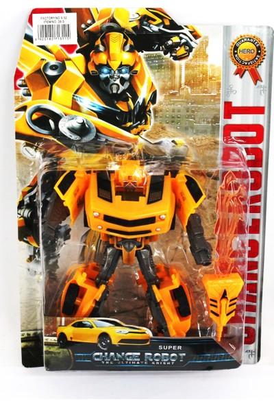 Toys Oyuncak Arabaya Dönüşen Robot 16 cm Sarı